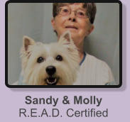 Sandy & Molly R.E.A.D. Certified